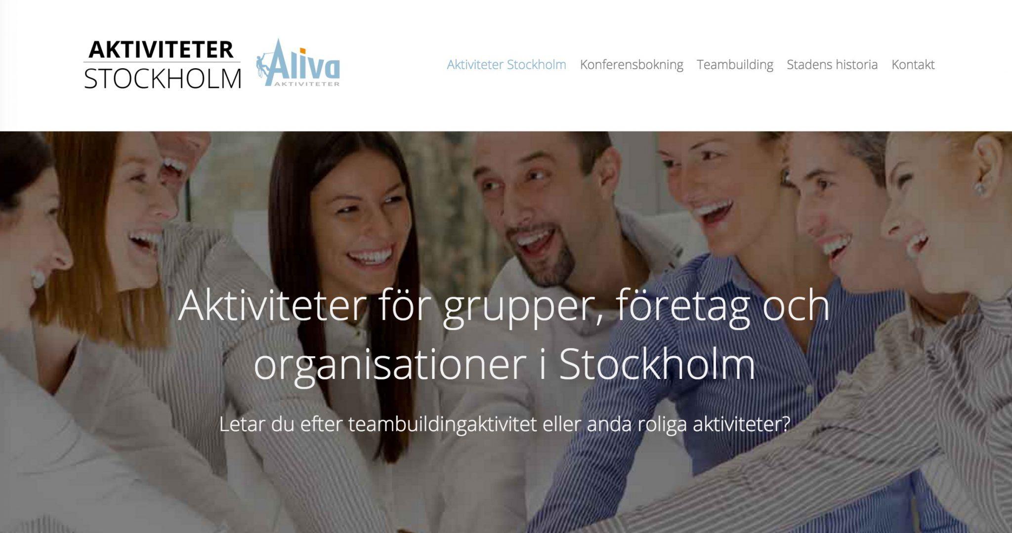 Aktiviteter i Stockholm för företag och grupper